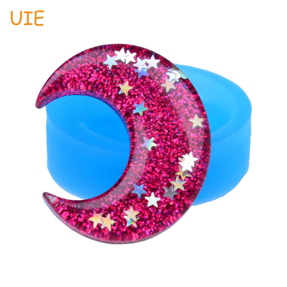 Jewelry Candy Resin Clay Fondant Radient Pyl583u 39.4mm Luna Silicone Mold Cake Decorating Mold Cheapest Price From Our Site Crescent Moon Mold Diy Handmade