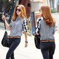 2015 Осень Новая Мода Женская Свободные Длинным Рукавом Блузки Из Шифона Повседневная Рубашка Топы