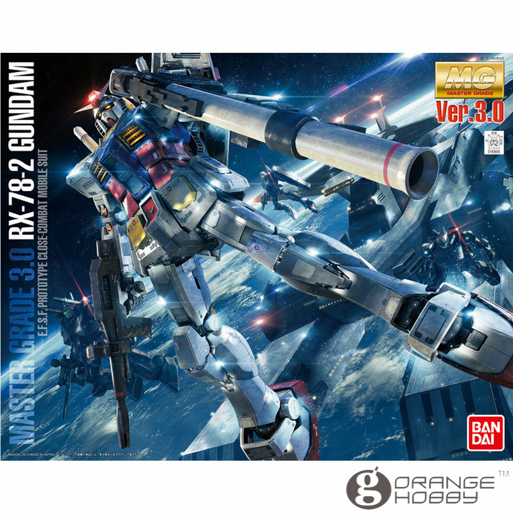 OHS Bandai MG 172 1/100 Gundam RX-78-2 Ver. 3.0 Mobile Suit Assembly Model Kits oh bandai hguc 178 1 144 rx 0 full armor unicorn gundam destroy mode mobile suit assembly model kits
