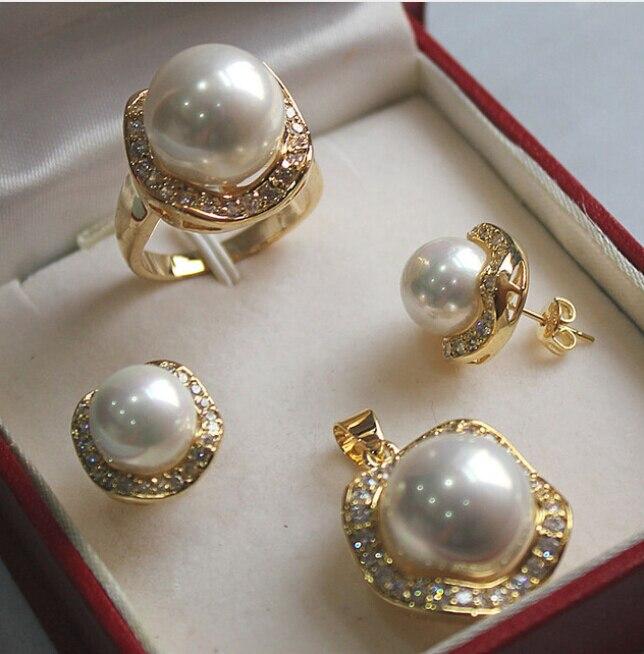 "Natural Pearl /& Noir Shell Pearl 5 Fleur Collier Pendentif 18/"" Long"
