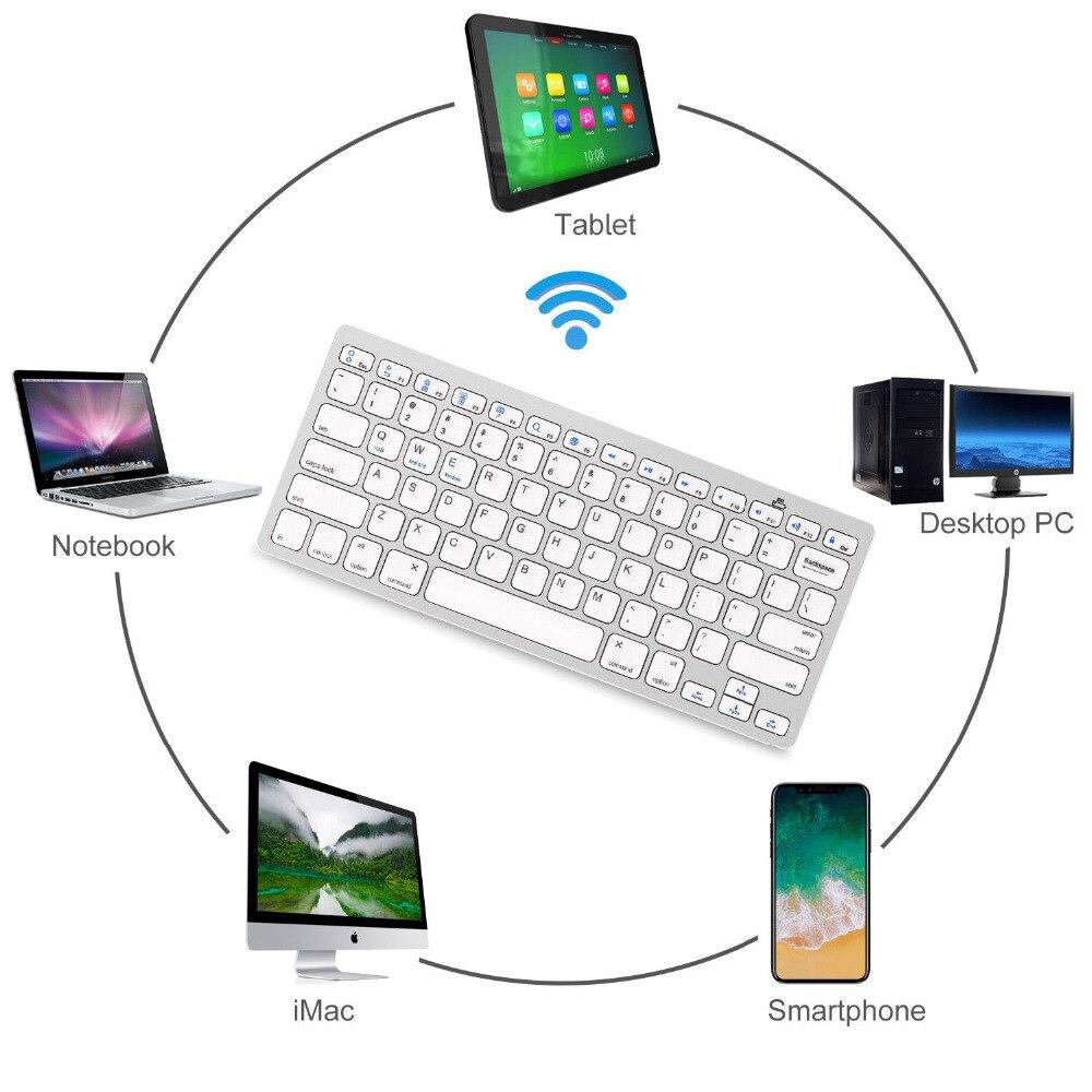 Wireless Bluetooth Keyboard Slim For Macs (Silver/White)