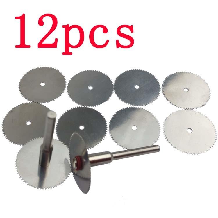 2pcs Rods 10x Circular Saw Disc Set Mini Drill Rotary Tool Wood Cutting Blade