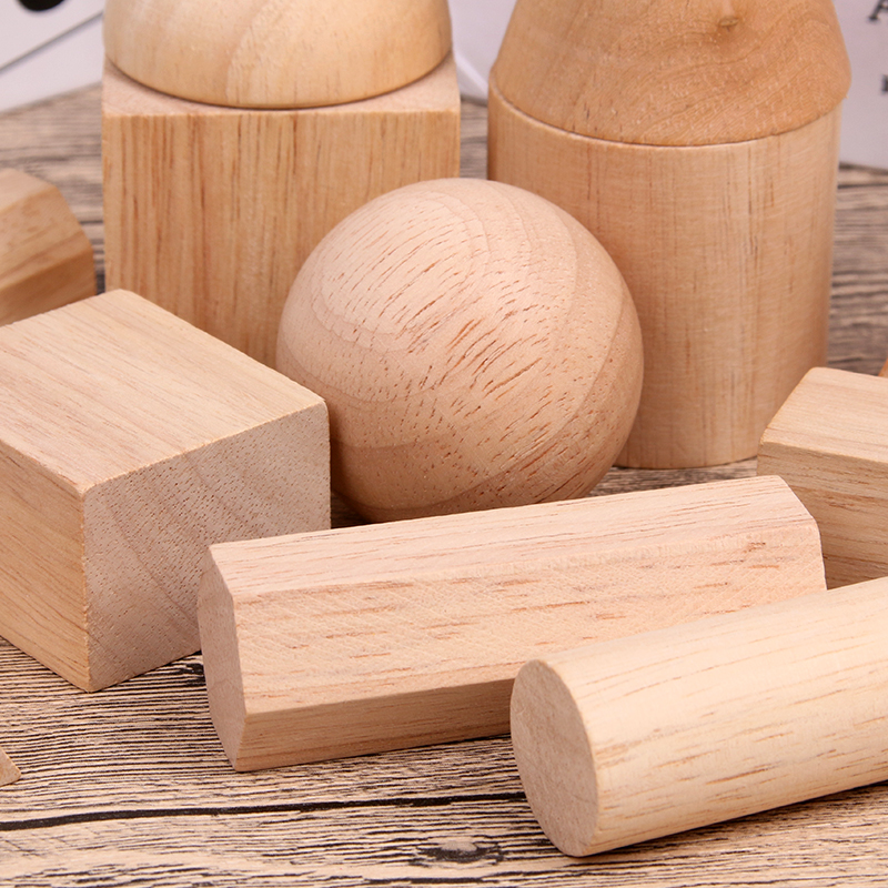 Image 3 - 12/15pcs Color Wooden Geometry Combination Teaching Aids Children Early Education Building Blocks 3D Educational Toys-in Wooden Blocks from Toys & Hobbies