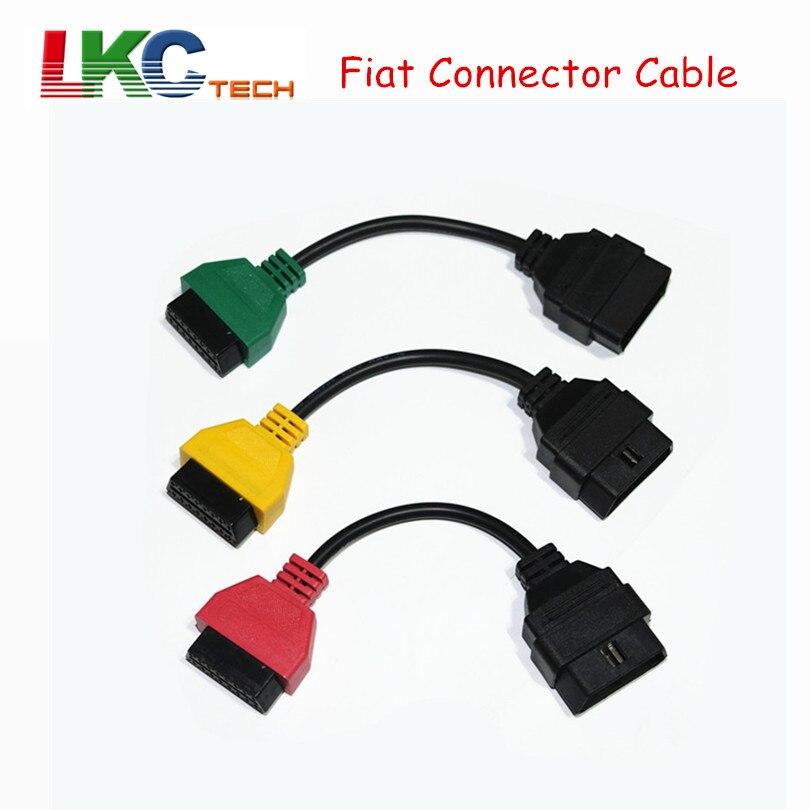 2018 Pour Fi-un-t Ecu Scan Adaptateur Connecteur 16pin OBD2 OBD Câble Adatper pour F-je-à Trois Couleurs (3 Pièces/ensemble) livraison Gratuite