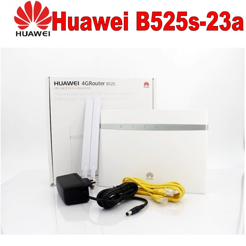 US $179 1 10% OFF|Unlock Huawei B525 B525S 23a 4G LTE CPE Router b525s 23a  300Mbps WIFI Gateway Router Cat  6 Mobile Hotspot +2CPS 4G Antenna-in 3G/4G