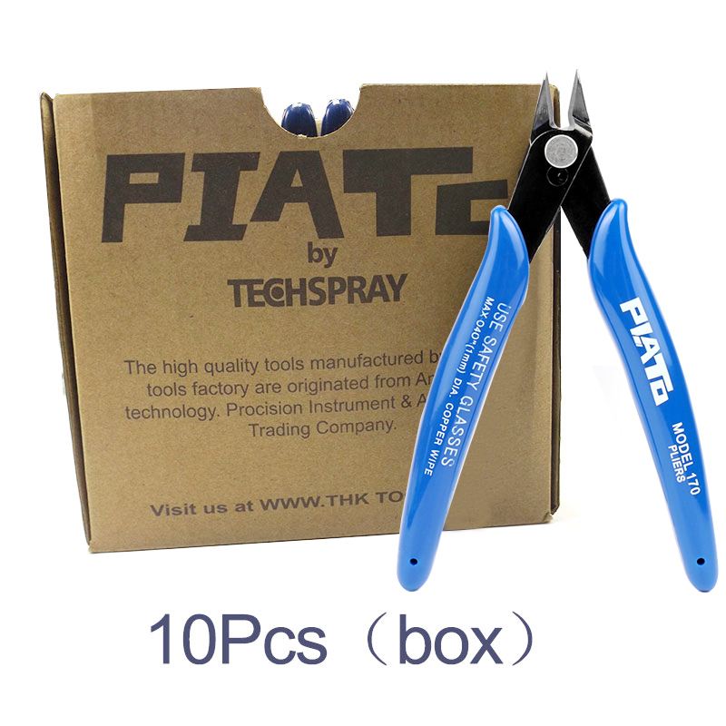 10PCS Practical Electrical Wire Cable Cutters Cutting Side Snips Flush Pliers Hand Tools Cutting Pliers Nippers Hand Tools doersupp 1pcs blue red non slip handle breaking cutting glass pliers stained glass tools flat end pliers hand tools