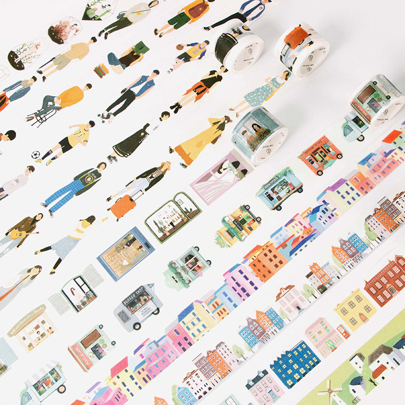 1 PC 24 Style Creative Modern People City Daily Life Washi Tape Scotch DIY Scrapbooking Decorative Masking Tape