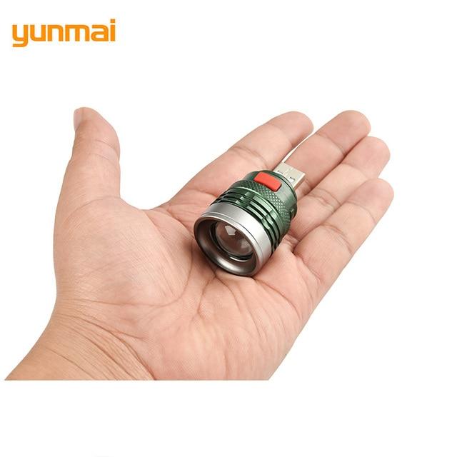 USB Portable Charging Lantern Computer Light 3-Mode Reading Lamp USB interface Mini Flash Light Q5 Linterna Torch By Power Bank