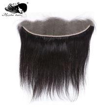 Мокко волосы 13*4 Кружева Фронтальная Закрытие бразильские девственные прямые волосы Отбеленный узел человеческих волос