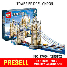 Lepin 4295Pcs 17004 Creator Expert London Tower Bridge Set Model Building Kits Minifigure Blocks Bricks Toys Compatible 10214