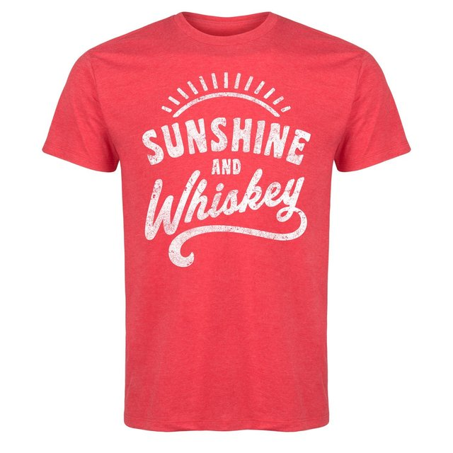 c65371d9 Sunshine and Whiskey Funny Summer Drinking Drunk Sunset Humor Whisky Mens T  Shirt Men T-Shirt Cotton 100% Top Tee