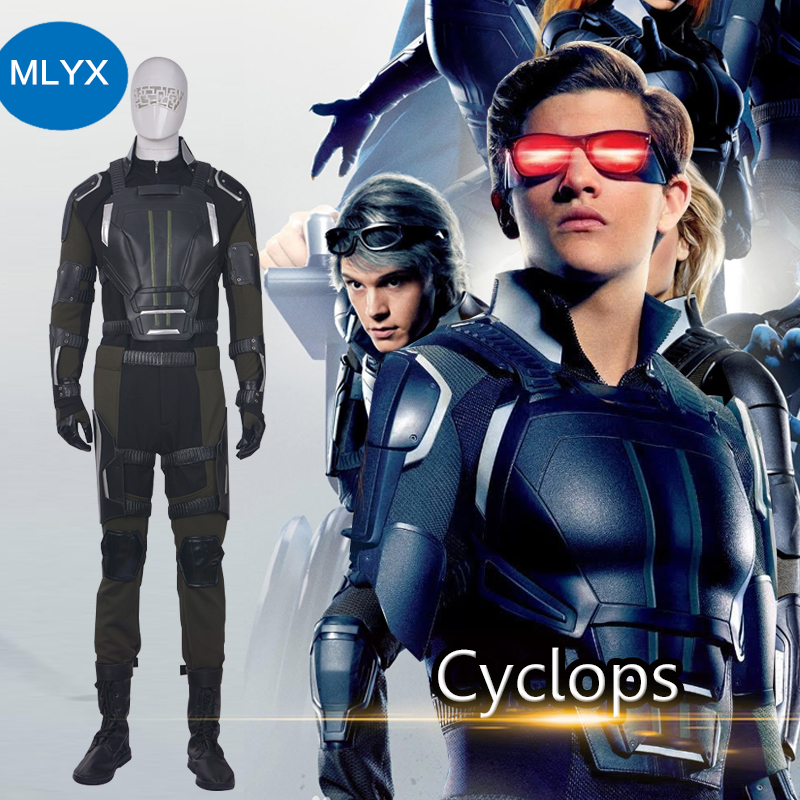 MANLUYUNXIAO X-Men Costume Apocalypse Cyclops Cosplay Costume Scott Summers Outfit Halloween Carnival Cosplay Costume For Men
