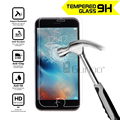 2.5d 0.3mm templado superior de cristal protector de pantalla para iphone 4 4s 5 5S 5c se 6 6 s 7 más templado protector de la película protectora shiled