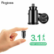 Dual USB Car Charger For iPhone 6 6s 7 8 Plus Samsung Xiaomi 3.1A Fast Car-Charger Charging Adapter Mobile Phone Car USB Charger(China)