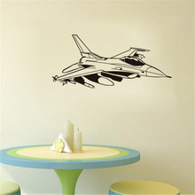 Fighter Jet Vinyl Wall Sticker Home Decor For Living Room Self Adhesive Art Airplane Decals Children Bedroom Decor