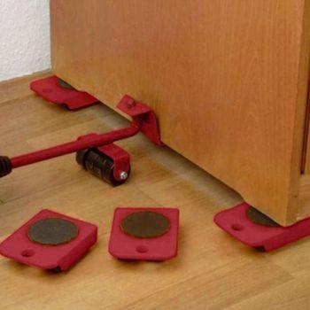 Moves Furniture Tool Transport Shifter Moving Wheel Slider Remover Roller Professional Heavy Bar Mover Device Slider Transporter