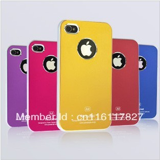 Air Jacket  mobile case for iPhone 4 4S 4G metal hard back cover skin aluminium, Factory Direct Sale+ Free Shipping+Good quality