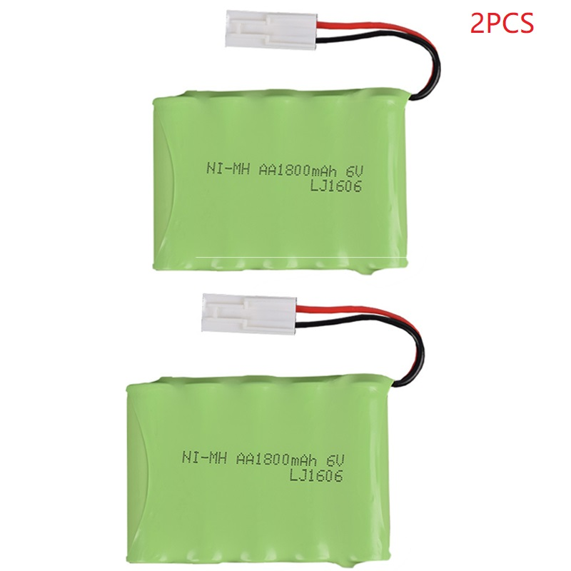 2pcs/set 6V 1800mAh Remote Control Toys Electric toy security facilities electric toy <font><b>AA</b></font> battery 6v battery group SM/T/JST/Plug image