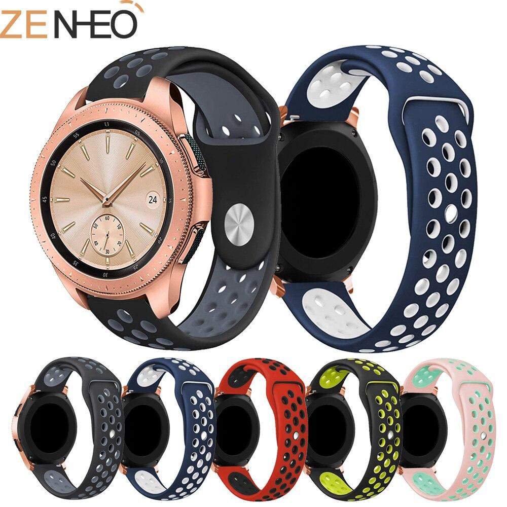 купить Sport Silicone strap for Samsung Galaxy Watch 42mm bracelet wrist belt Rubber watchband For Xiaomi Huami Amazfit Bip 20mm Bands по цене 89.08 рублей