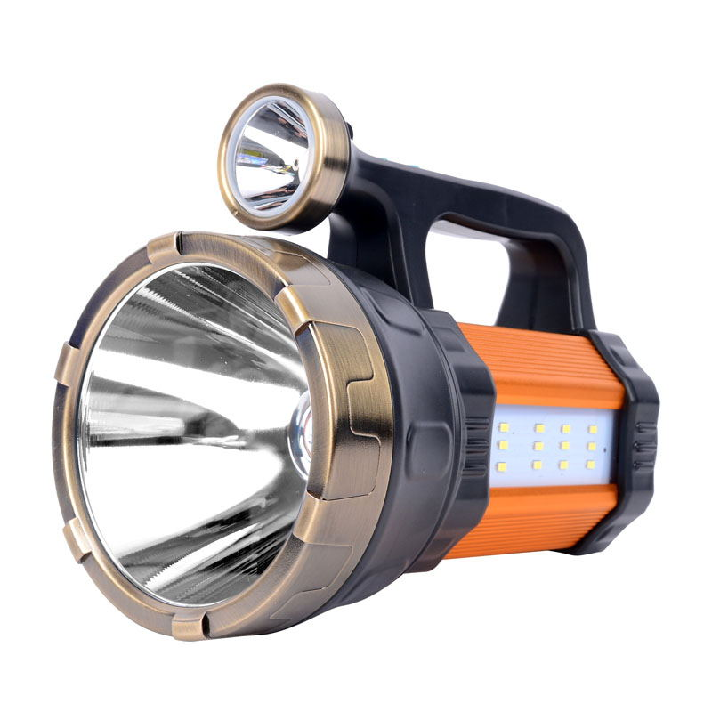Portable Led Flashlight Waterproof Rechargeable Hand Searching Lamp Working Torch Camping Hunting Fishing Long Range Flashlight high power led searchlight lantern built in battery handheld portable flashlight torch rechargeable waterproof hunting lamps