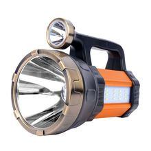 Przenośna latarka Led wodoodporna akumulatorowa lampa ręczna do wyszukiwania latarka robocza Camping polowanie wędkarstwo daleki zasięg latarka