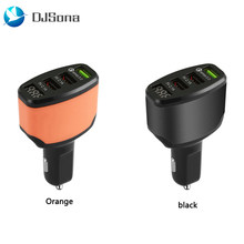 Multiple Expander 3 Port USB Car Charger 4.2A Quick Car Charger Adapter LED Display Fast Charging for Phone(China)