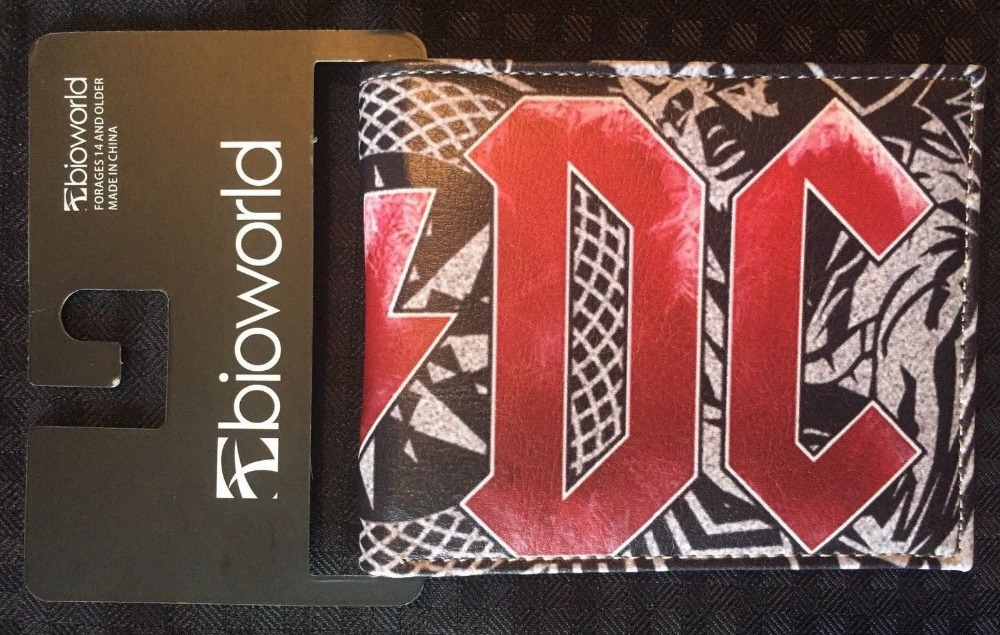 ACDC AC/DC Angus Young Highway to Hell Rock Bi Fold Men's Money Purse Wallet W306 New ac dc ac dc highway to hell