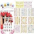 2015 NUEVA LLEGADA 20 Hoja/LOT diseño 3D de Dibujos Animados etiqueta engomada DEL CLAVO, diseño de uñas Para Uñas Desgin y decoración + Separado Embalado