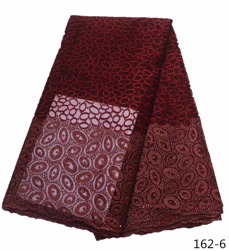 2019 Последняя французская кружевная ткань в нигерийском стиле Высококачественная Тюлевая кружевная ткань в африканском стиле Свадебные африканские Французские тюлевые кружева 162