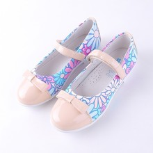Mingkids Spring Autumn Girls Fashion Princess Flat Shoes Bow PU Leather Child for School Export EU bakkotie 2018 spring new fashion baby girl patent leather bow red flat child rhinestone princess party shoe kid brand mary jane