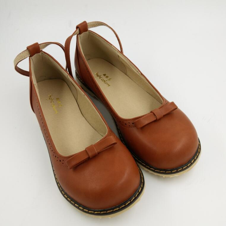 73dd899af Agradável Primavera Doce Arco Bonito Sapatos Único com Tira No Tornozelo  Planas Boneca mulheres Sapatos Retro Mary Janes Meninas Ballet Flats  Sapatos Plus ...