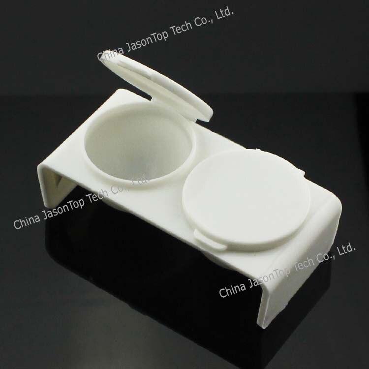 1 Stück Doppel Lippen Dappen Dish Für Mischen Acryl Flüssigkeit Und Acryl Pulver Kunststoff Nail Art Werkzeuge Weiß Rose Schüssel Tasse Kit Acryl Puder & Flüssigkeiten