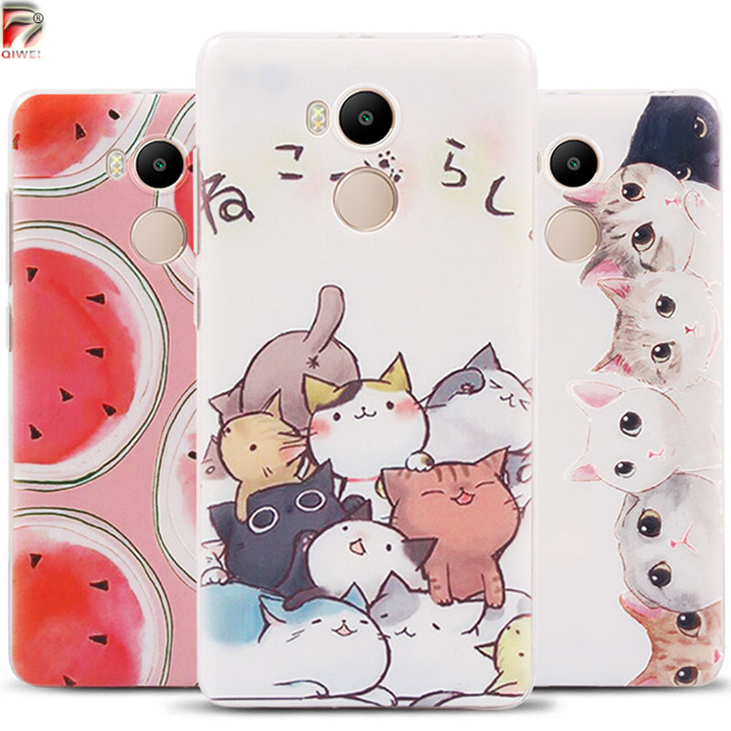 For Xiaomi Redmi 4 Pro Case 3D Fruit Landscape Thin Soft Rubber Case for Xiaomi Redmi 4 Pro Prime /Redmi 4 Cover Silicon Cases