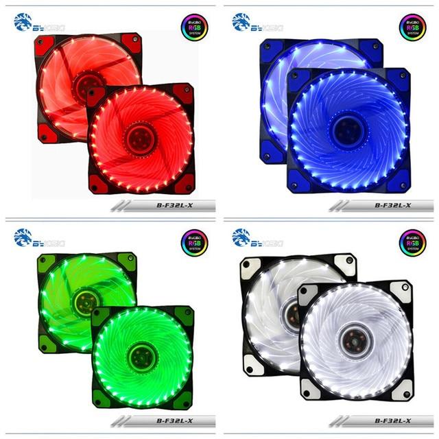 Bykski B-F32L-X 32 Water Cooling LED Fan color mute mat 12cm 32pcs Lamp Fan