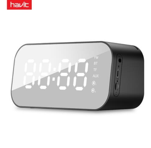 HAVIT M3 Portable Bluetooth haut-parleur réveil sans fil LED affichage de la température avec prise en charge de la Radio FM Aux TF USB lecteur de musique