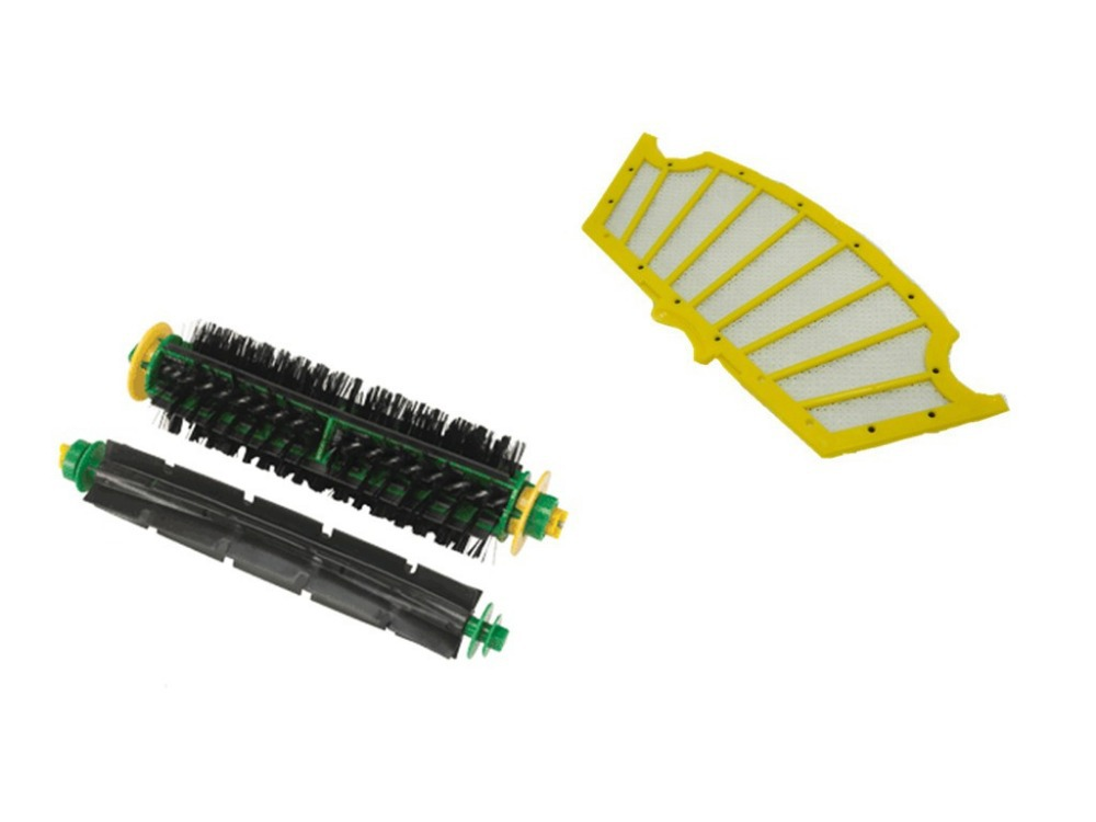 цены на Flexible Beater Brush +Bristle Brush+Filter for iRobot Roomba 500 Series 510 520 530 540 560 570 580 в интернет-магазинах
