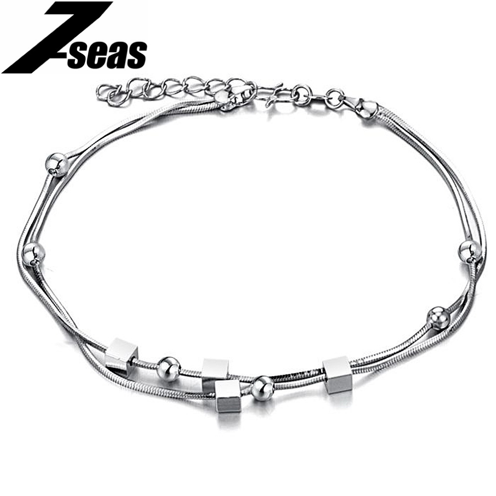beads leg bracelet womens expandable bridal cube ankle vintage jewelry wihte chain white platinum anklets store gift anklet gold plated pendant foot product