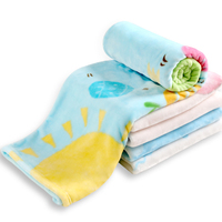 Kids Cartoon Bedding Blankets Flannel Warm Quilt For Baby Crib Cute Play Mat Sofa Leg Cover Blanket Keep Warm Baby Swaddle Wrap