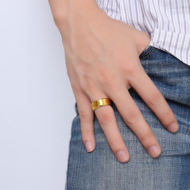 rings dome gray wedding gold products band gunmetal ring engagement brushed tungsten mens rose