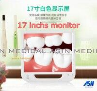 17 inch LCD monitor tandheelkundige endoscoop (USB/AV/TV/HDMI/VGA) + ingebouwde kwart raspen + intraoral camera + afstandsbediening