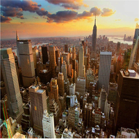 Custom 3d Mural Wallpaper City Evening Landscape Background Sofa Bedroom TV Tower In New York 3d