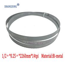 Najwyższa jakość obróbki metali 89 #8222 x 1 2 #8221 x 0 25 #8222 lub 2260*13*0 65 * 14tpi bimetaliczny m42 metalowe ostrza do pił taśmowych do europejskich piły taśmowe tanie tanio 89 x 1 2 x 0 25 or 2260*13*0 65*14tpi Inne 1 Pc SHANGDING J0030