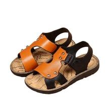 Літні сандалі Хлопчики для хлопчиків 2018 Дитячі дихаючі взуття Малюк Хлопчики Взуття PU шкіра Дитячі сандалі Хлопчики пляжні сандалії Великий розмір