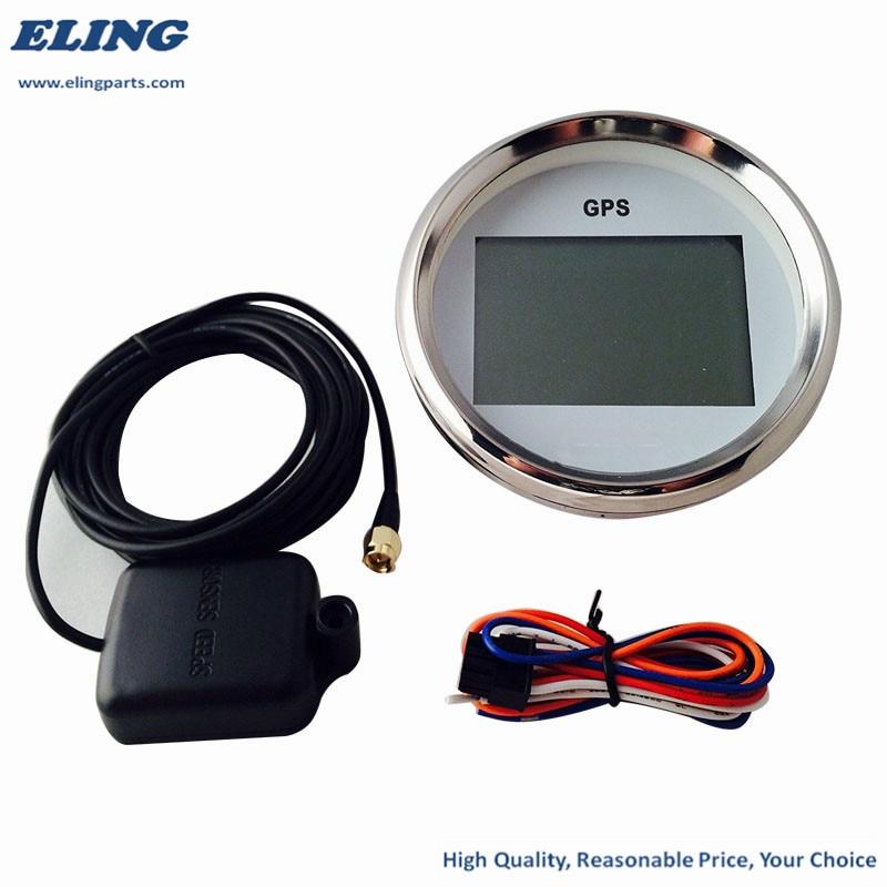 0~999 nodi display LCD per barche marine Tachimetro universale GPS da 85 mm km//h regolabile 12 V//24 V 9-32 V contachilometri digitale con retroilluminazione auto camion