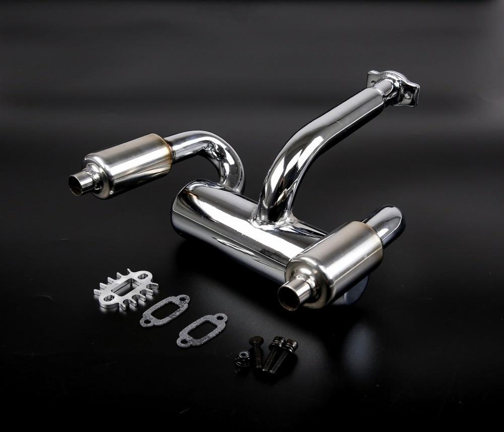 1/5 rc baja parts Rovan baja rc car parts BAJA double exhaust pipe with muffler 85299 все цены