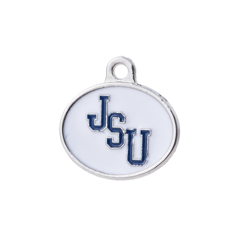 Newest Oval Double Sides Enamel Jackson State JSU Tigers Pendant Charm For All DIY Sport Jewelry