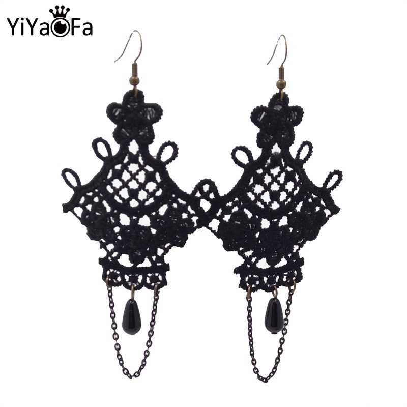 YiYaoFa Handmade Dangle Earrings Tassel Design Vintage Drop Earring Women Accessories Gothic Jewelry Earrings for Women YE-01