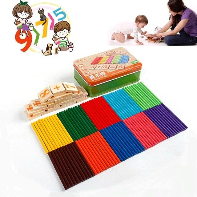US $6 39 |Nieuwste Grappig Kids Educatief Spel Houten Tellen Math Aantal  Teller Vroeg Leren 100 Stick/doos Speelgoed Voor Baby Kinderen in Nieuwste