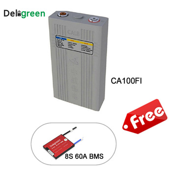 Clearance 8pcs CALB Lifepo4 battery Pack 25.6V 100A Products With Free 24V 8S 60A Protection Board With Bat cell Connector