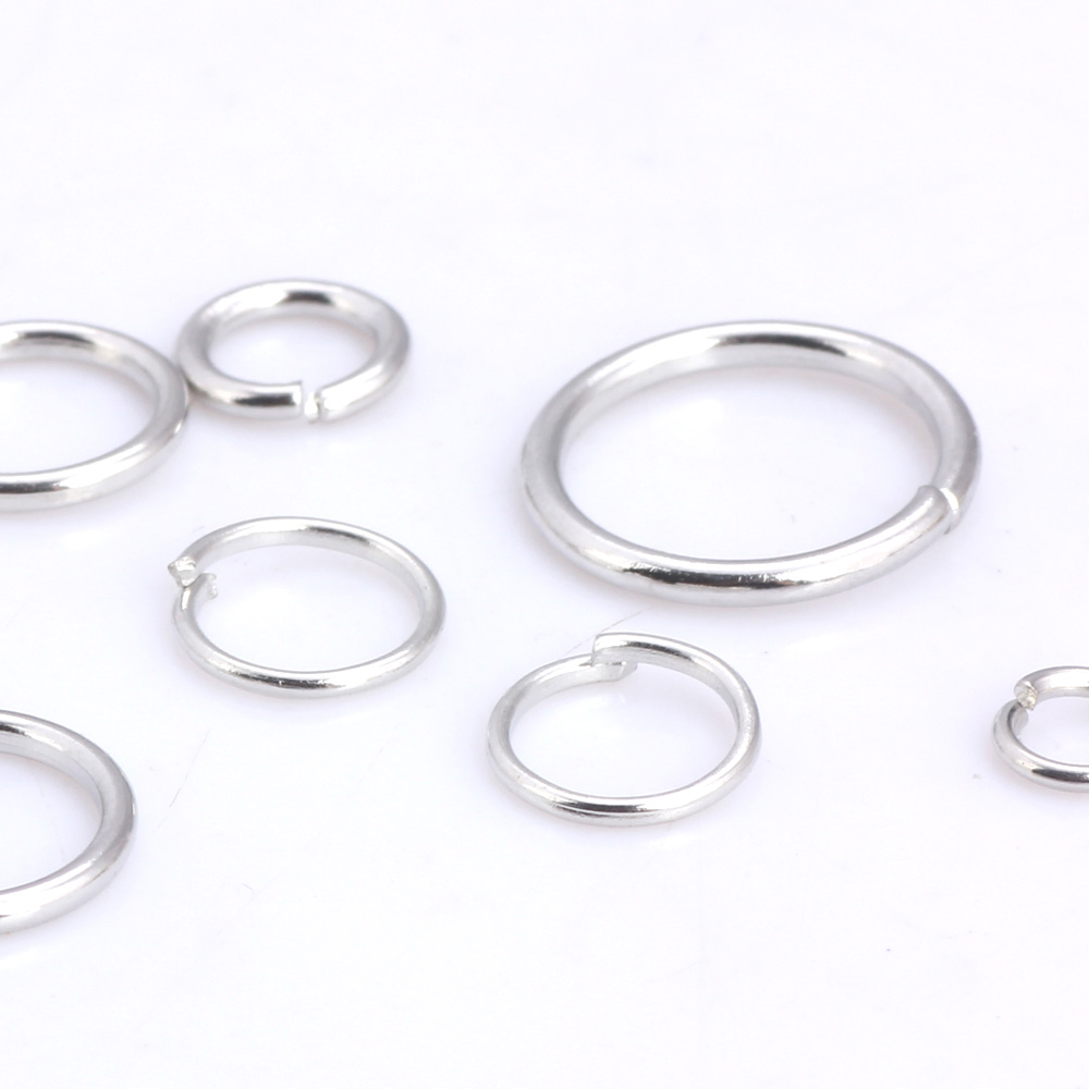 OlingArt 240pcs lot Dia 1 0MM Rhodium plating Jump Ring 6mm 8mm 9mm 10mm 12mm link loop Mixed size DIY Jewelry making Connector in Jewelry Findings Components from Jewelry Accessories
